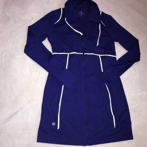 Athleta Full Zip Pocket Dress Royal Blue Sz Small